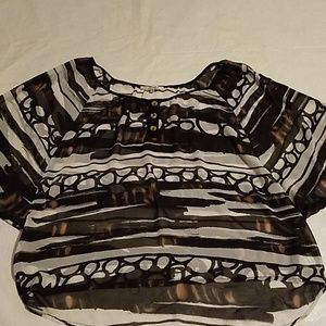 Quintessential Flowing Sheer Blouse Size Large
